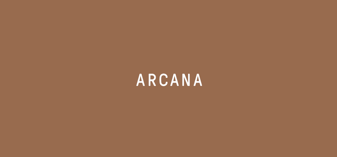 Arcana Logo - White on Copper | Branding | Art Direction | Print