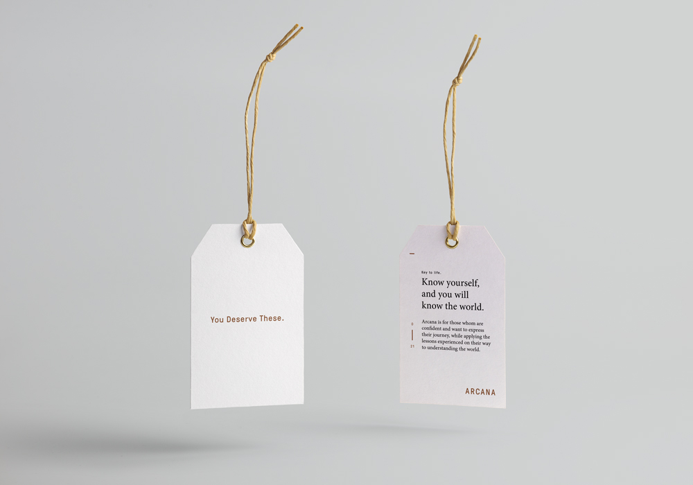 Arcana Hangtags for Shoes | Branding | Art Direction | Print