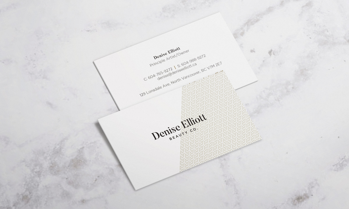Denise Elliott Business Cards - Print Material with Marble
