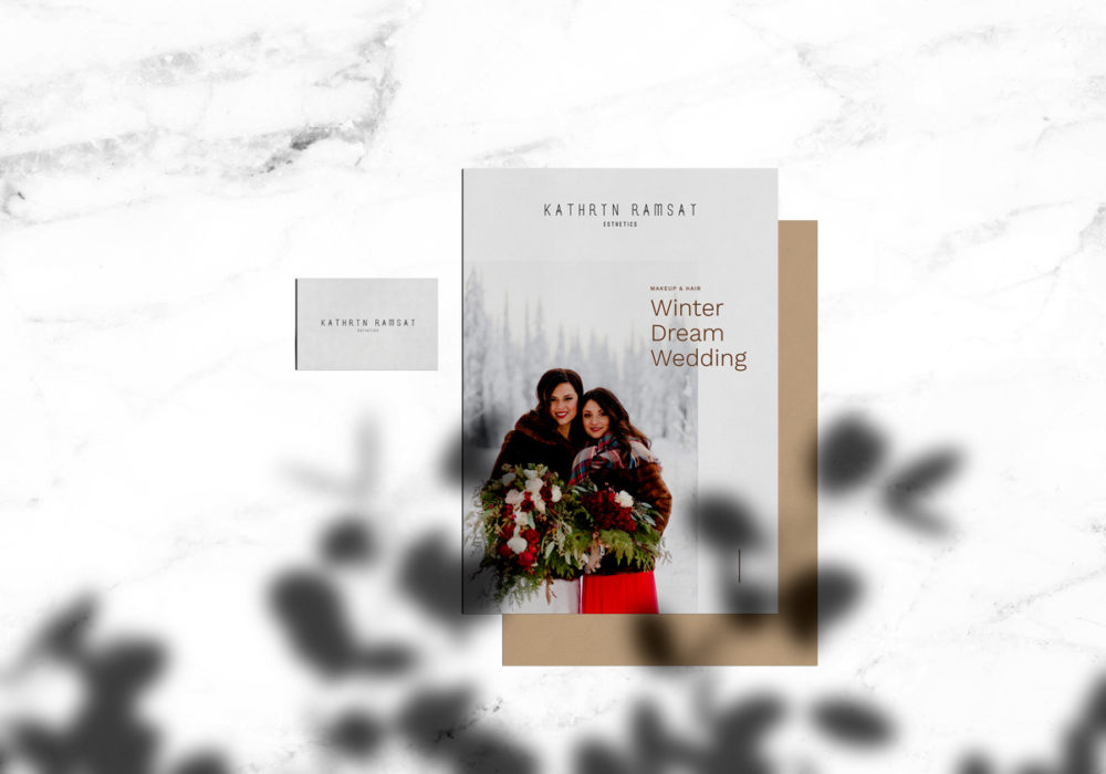 Kathryn Ramsay Esthetics - Winter Wedding Stationery
