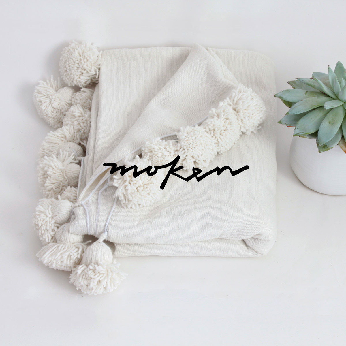 Moken - Pom Pom Blanket - Laura Ramsay Design - Branding and Packaging