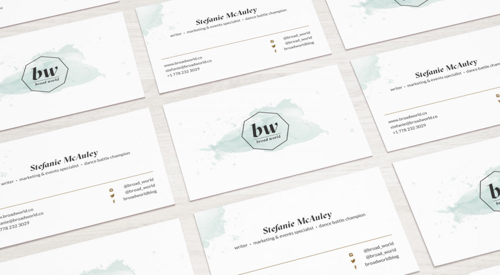 Broad World Business Cards