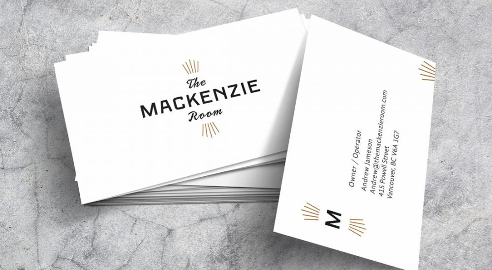 The Mackenzie Room Business Cards