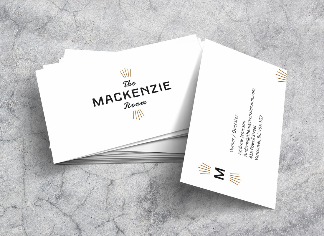 The Mackenzie Room Business Cards | Branding | Print