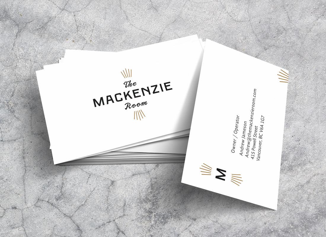 The Mackenzie Room Business Cards