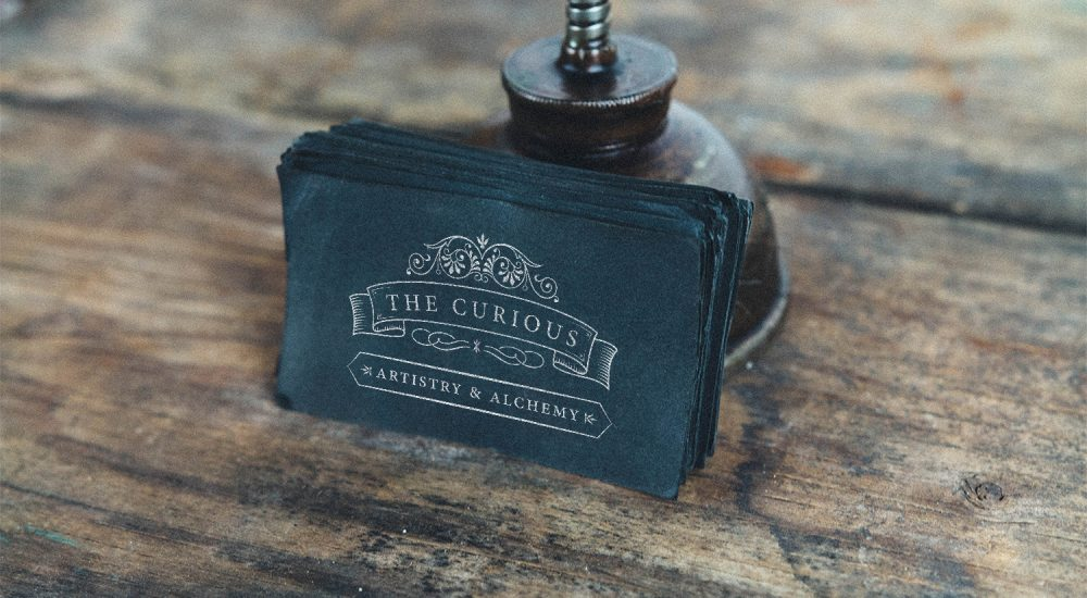 The Curious Cafe - Logo and Business Card