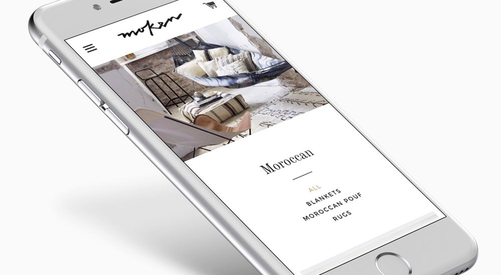 Moken - website on mobile iphone