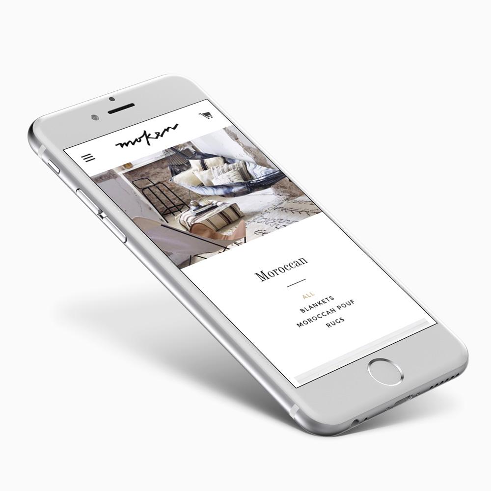 Moken - website on mobile iphone