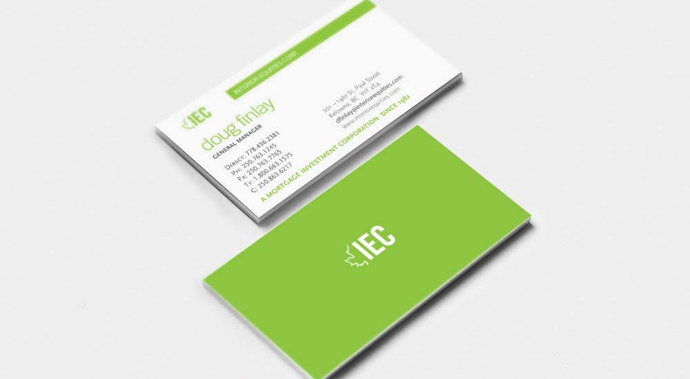 Interior Equities Corp. Business Cards
