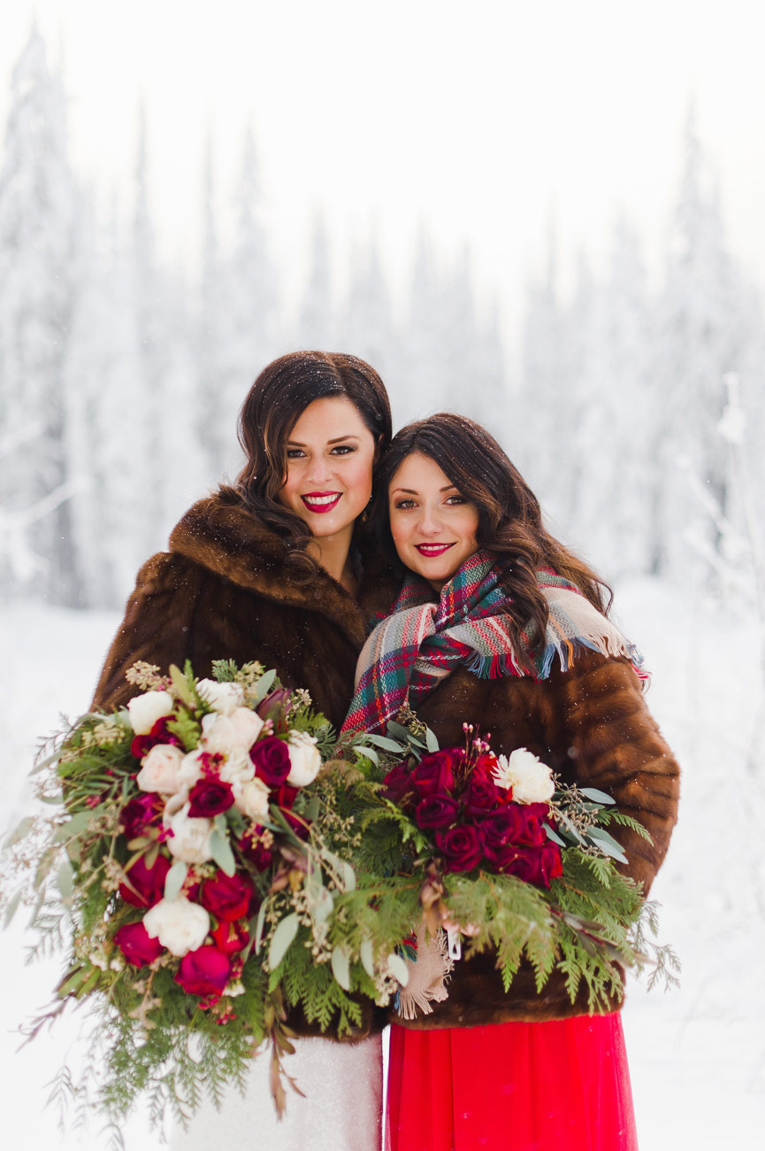 Kathryn Ramsay Esthetics - Winter Wedding - Kala and sister Tessa