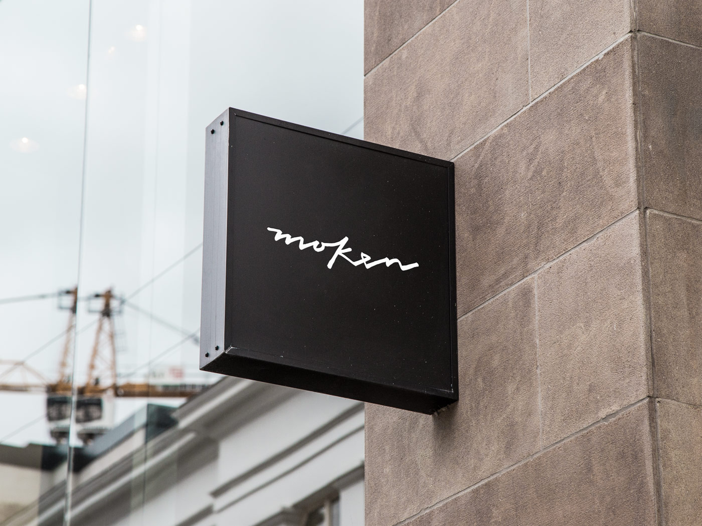 Moken - Store front wall sign