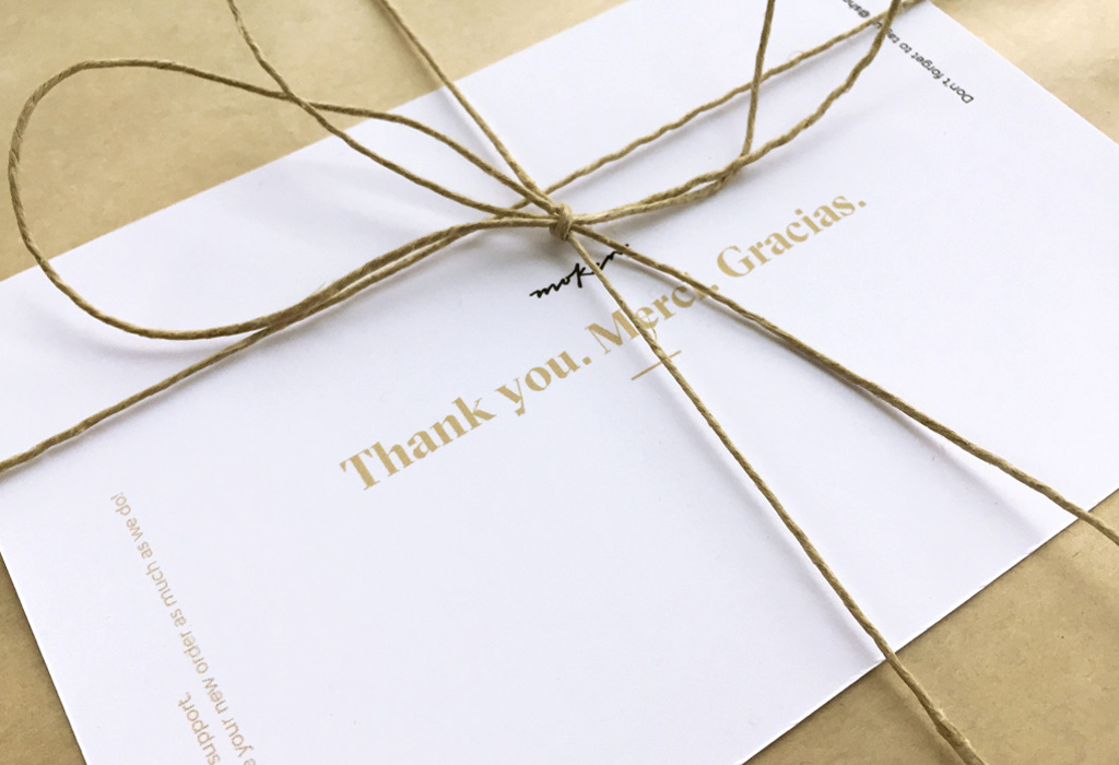 Moken Thank You Cards