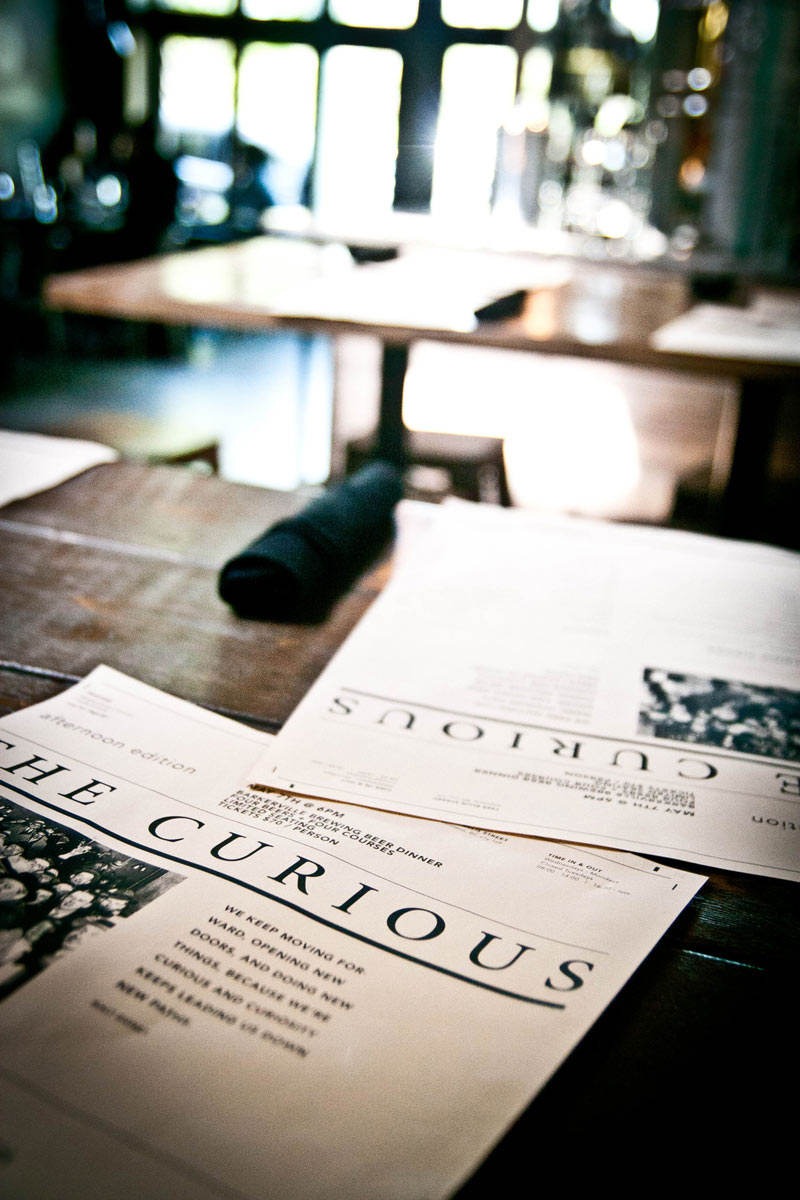 The Curious Cafe - Menu Design Lifestyle