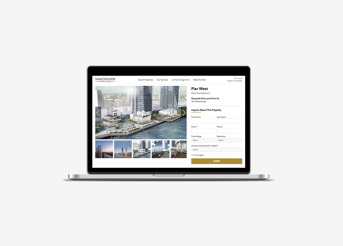 Vancouver Presales Real-Estate Website