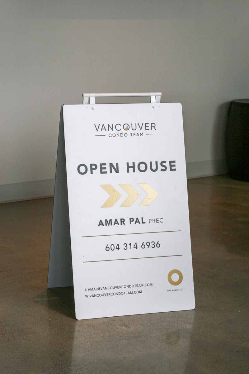 Vancouver Condo Team - Open House Sign