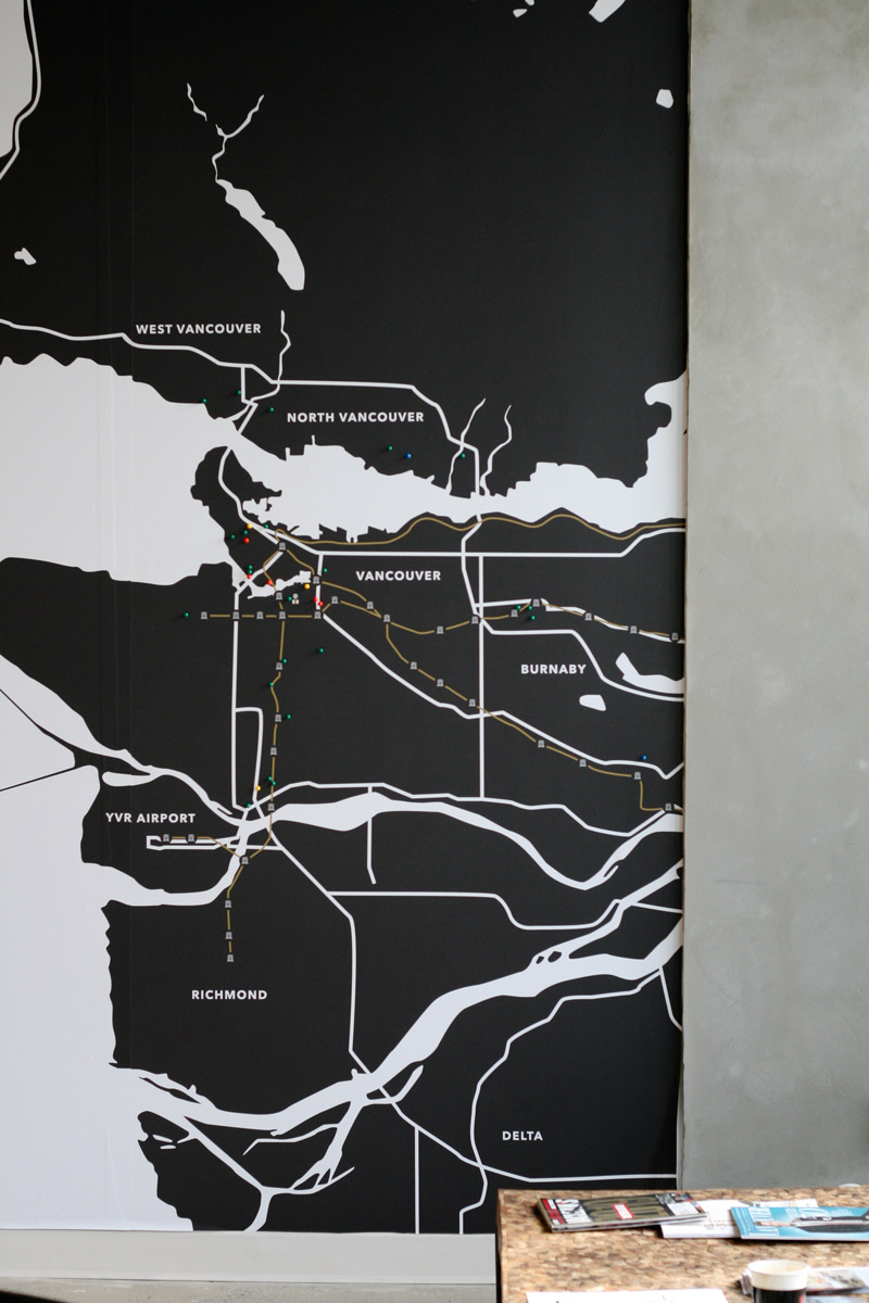 Vancouver Condo Team - Wall Map