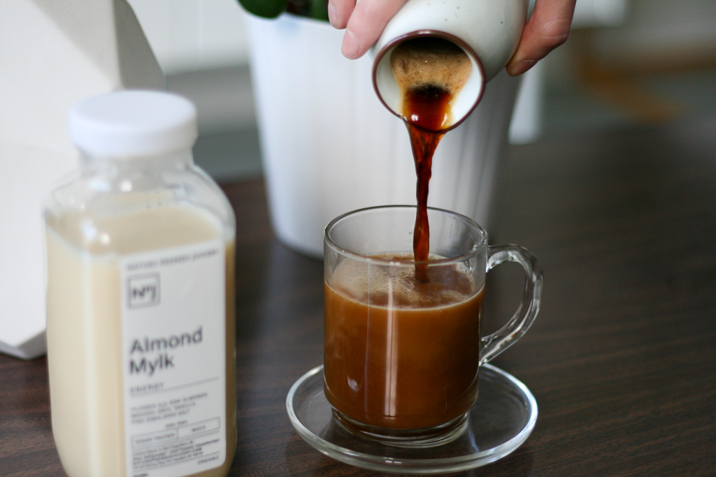 Nature Pressed Juicery - Organic Almond Mylk is perfect with coffee
