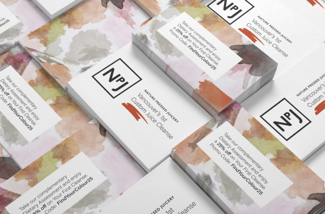 Nature Pressed Juicery - Promo Cards