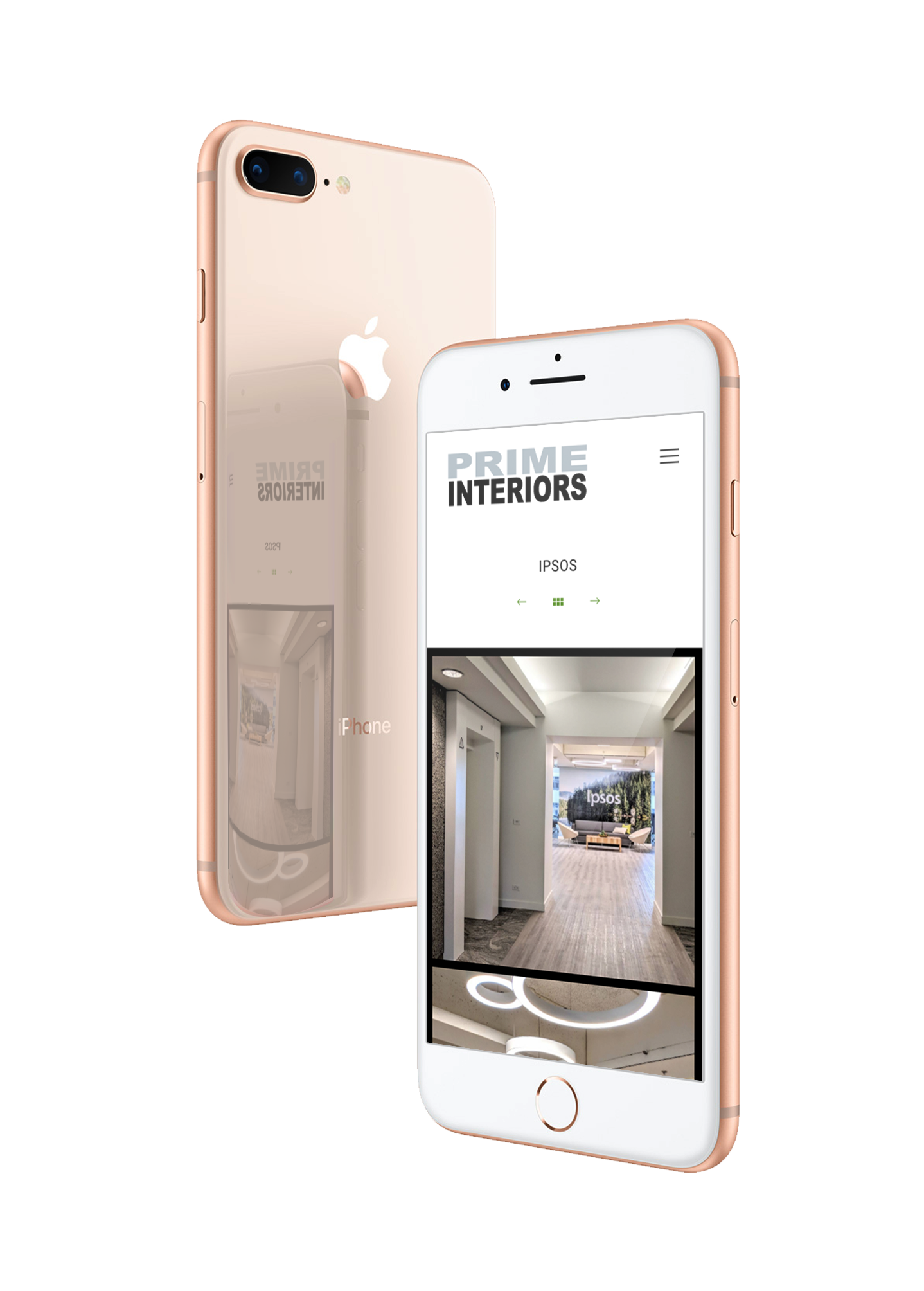 Prime Interiors Project on Iphone