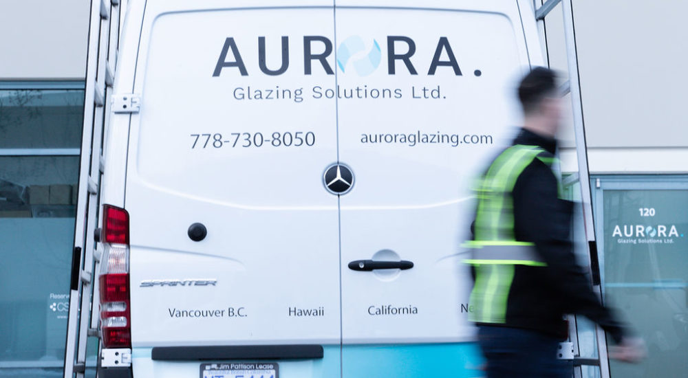 Aurora Glazing Solutions work van