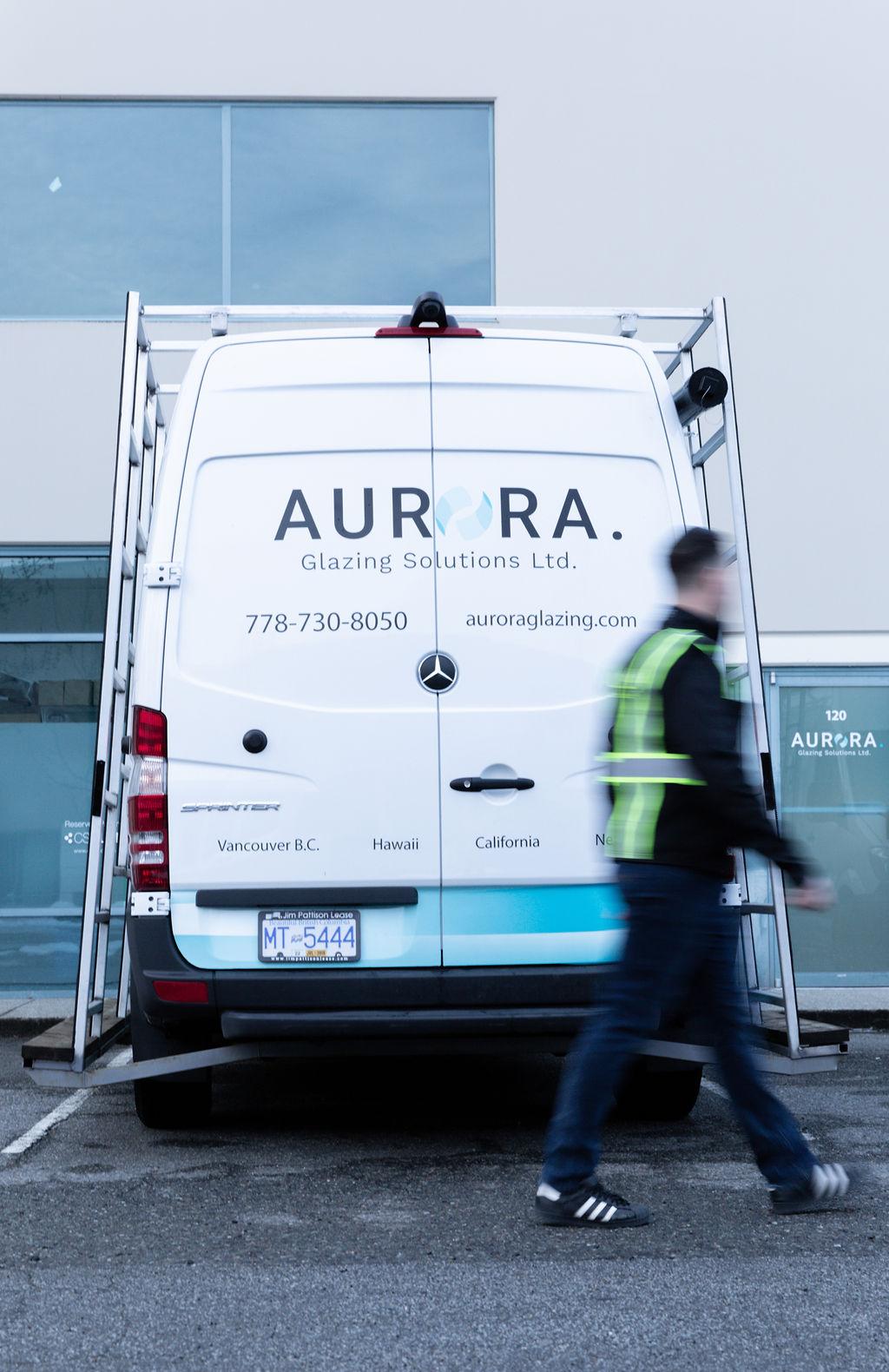 Aurora Glazing Solutions work van