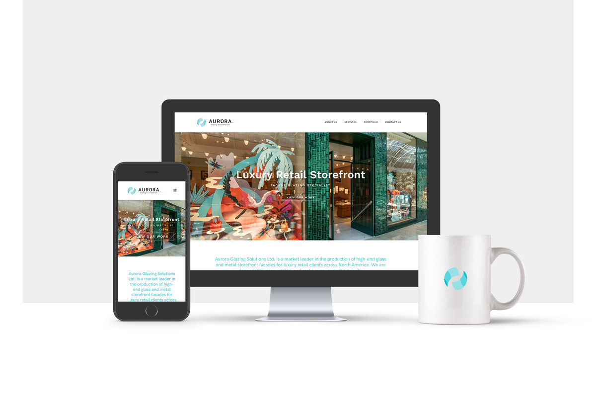 Aurora Glazing Solutions website design