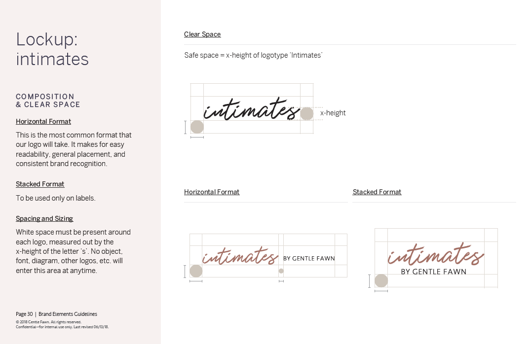 Gentle Fawn - Intimates Logo Guides