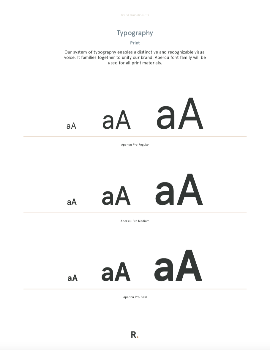Refy Financing Typography