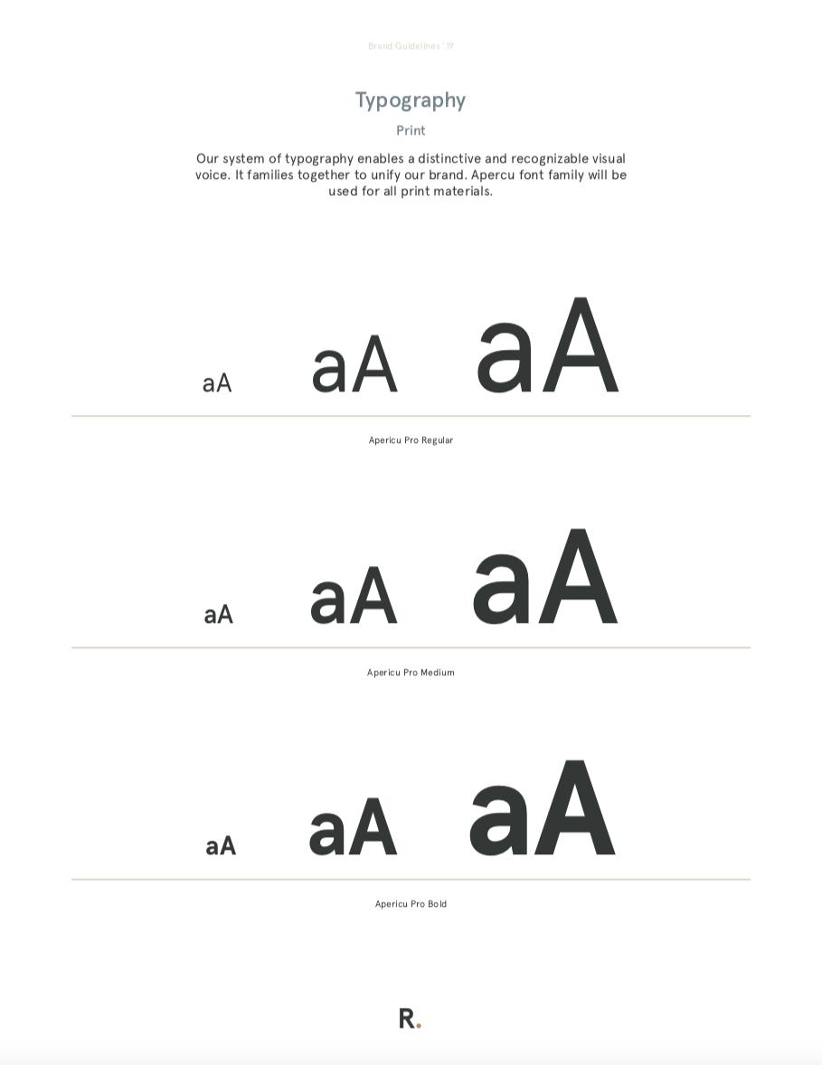 Refy Financing Typography
