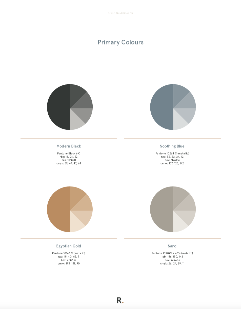 Refy Financing Colour Palette