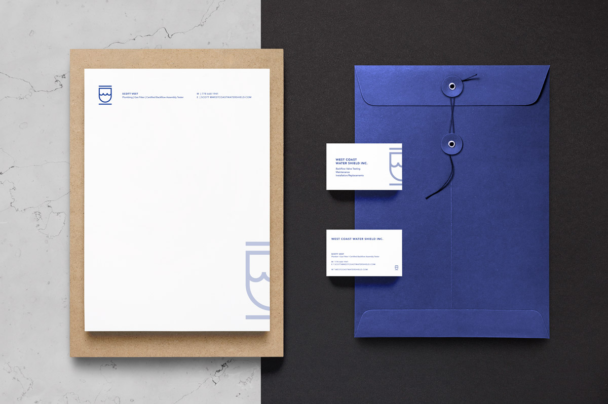 West Coast Water Shield Inc. - Brand Identity by Laura Ramsay Design