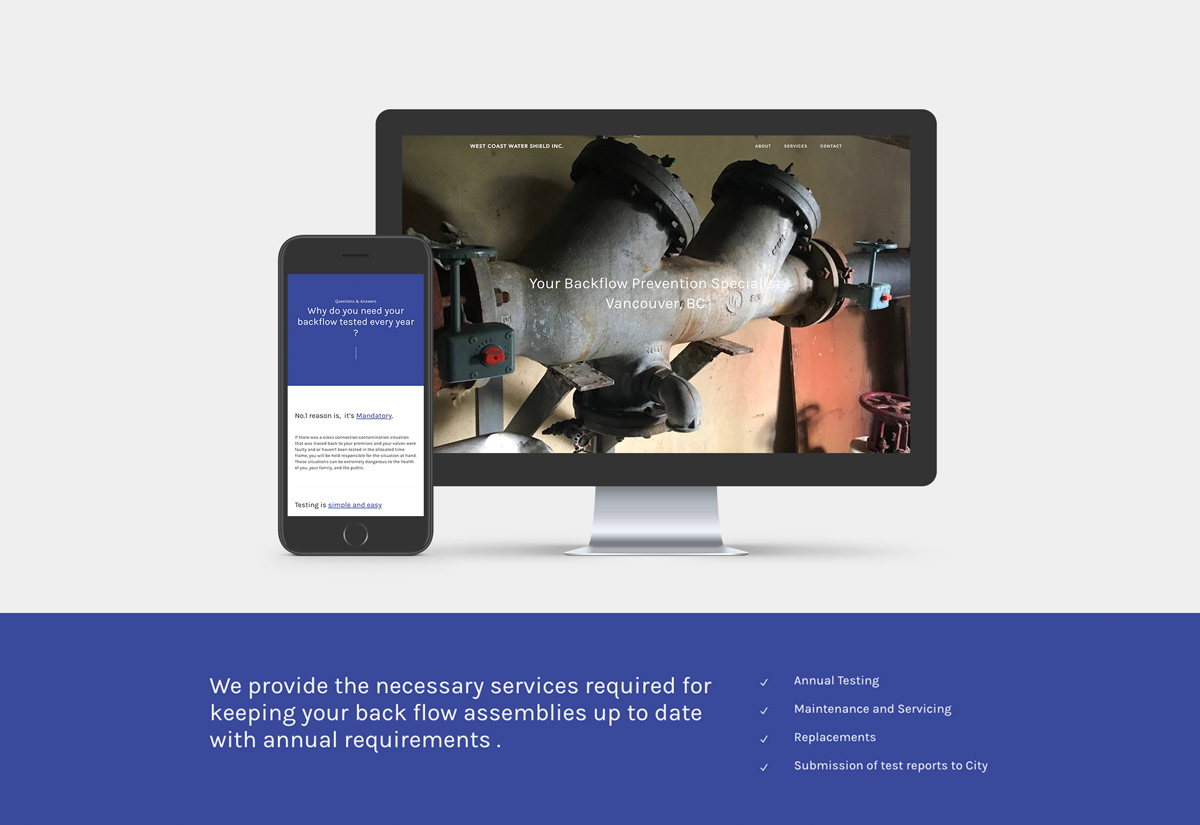 West Coast Water Shield Inc. - Branding and Website by Laura Ramsay Design