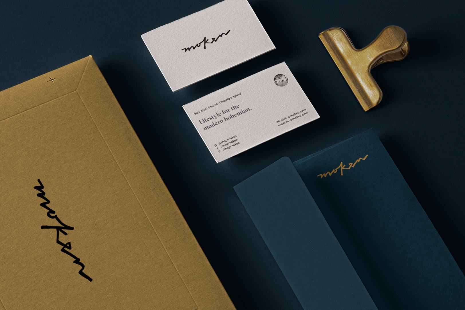 Moken Business Cards, Letter and Envelope
