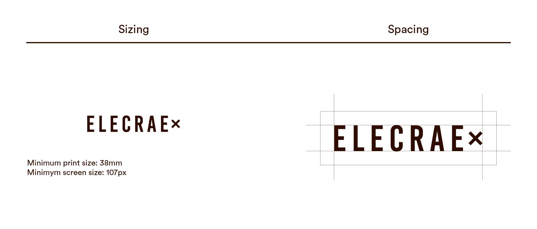 Elecrae Socks Logo design spacing