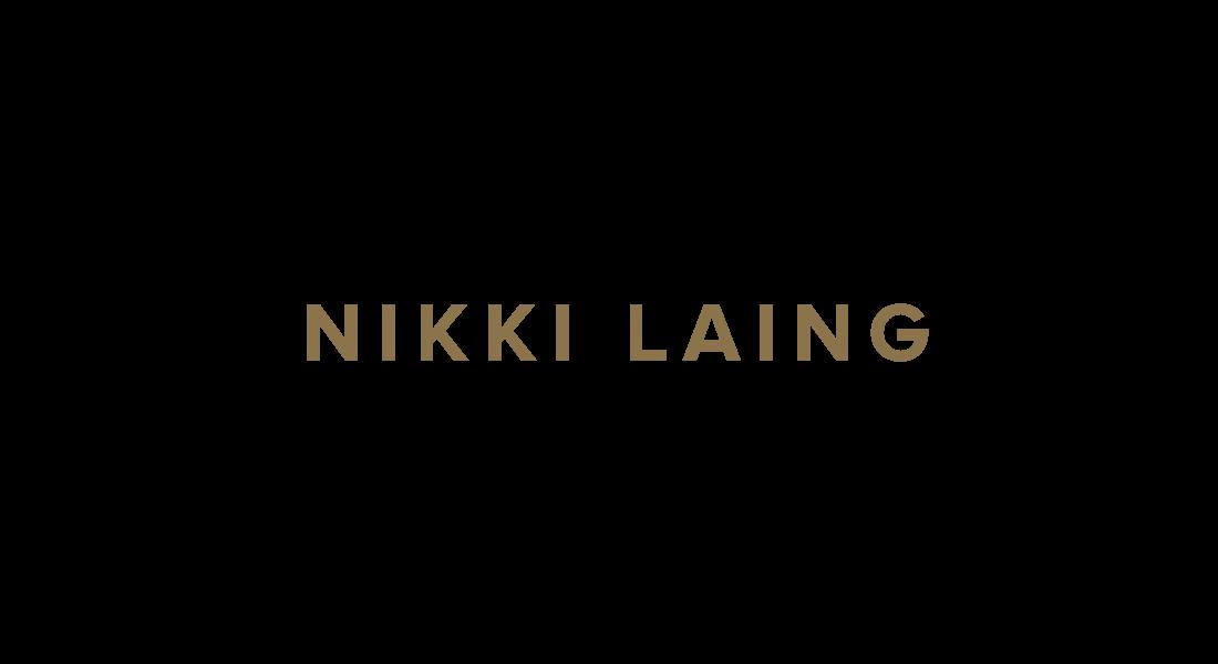 Nikki Laing - Logotype in gold