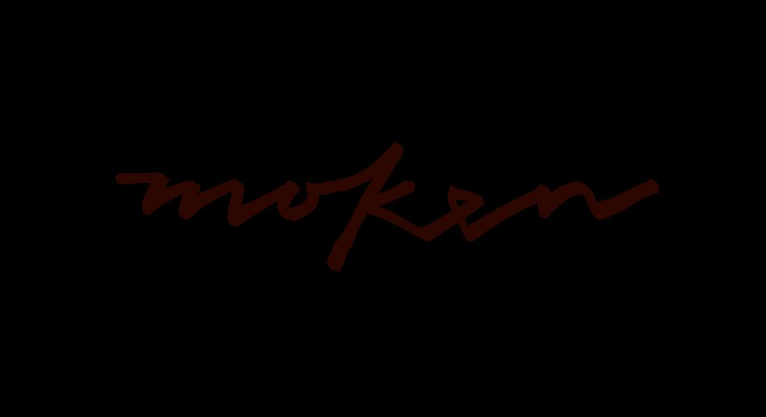Moken logo - hand written custom branding design