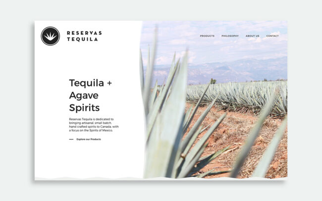 Reservas Tequila website