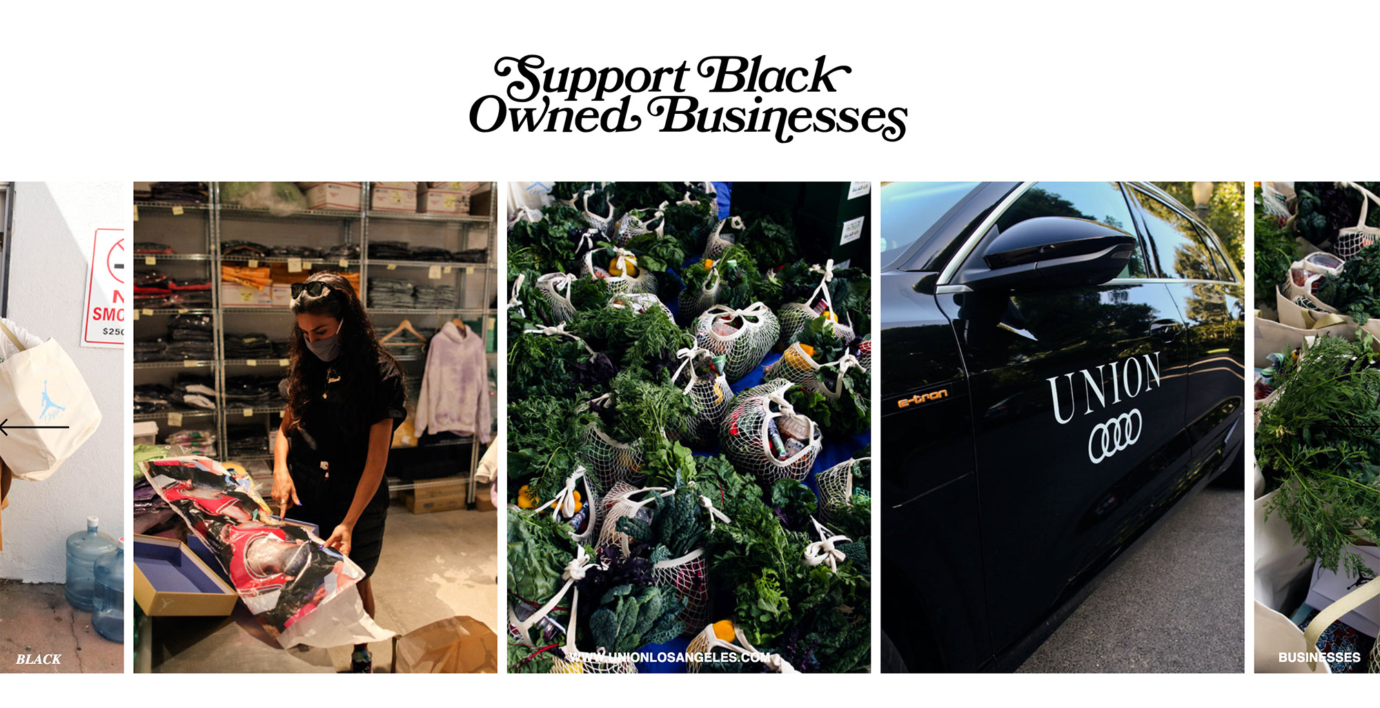 Spread Love - Union X Jordan - Support Black Owned Businesses