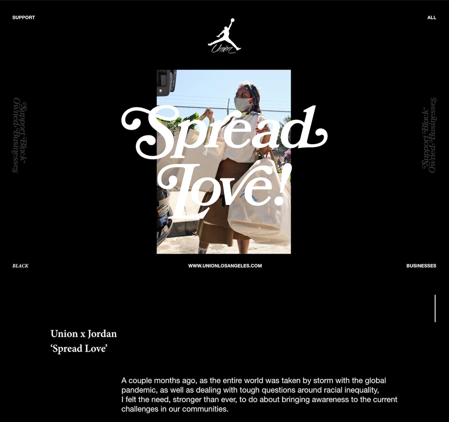Union X Jordan - Spread Love Campaign