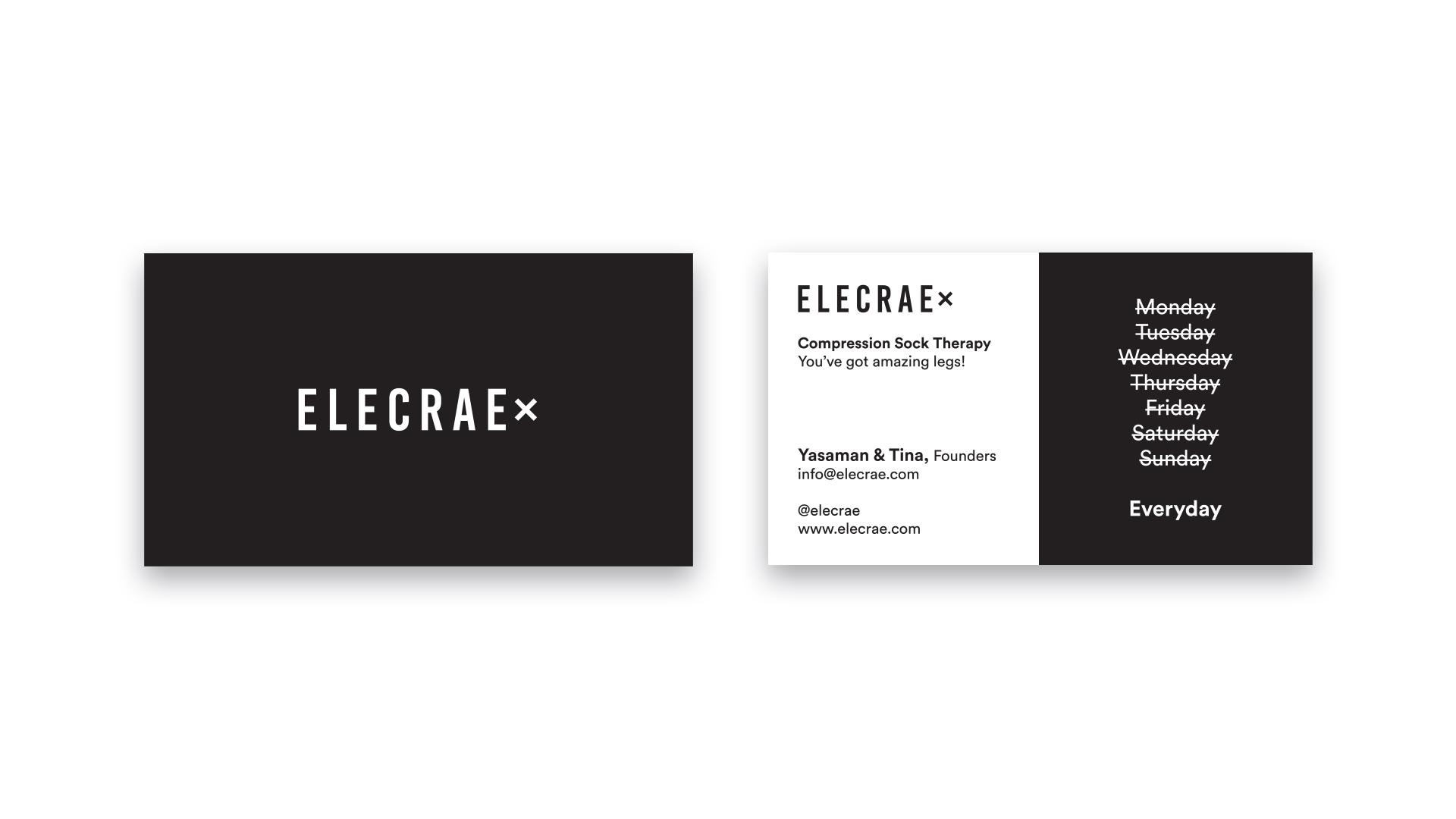 Elecrae Compression Socks Business Cards
